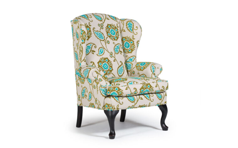 A traditional elegant wingback chair that is customable to your exact needs