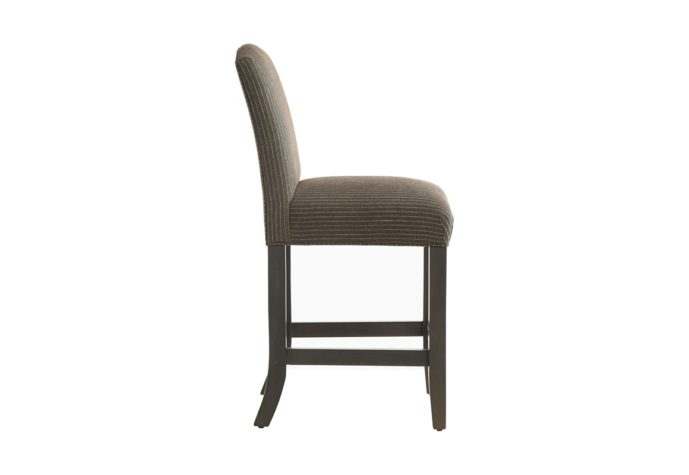 side view of 10202 counter stool allows you to choose fabric and wood finishes