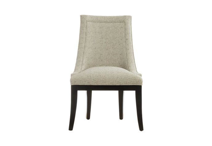 11181 dining chair from vogel in espresso wood finish and neutral fabric