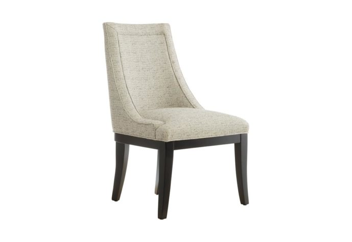 side view of 11181 customizable dining chair in espresso wood finish