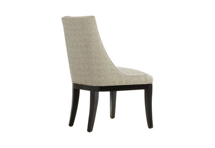 back view of 11181 dining chair fully customizable by vogel