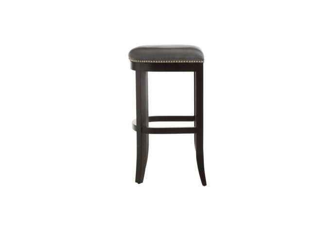 side view of 10107 vogel by chervin bar stool in leather and espresso wood