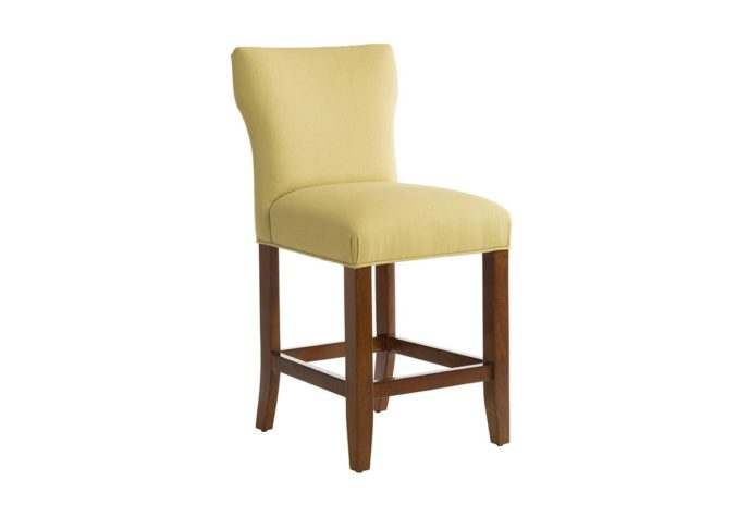 front angle of 10206 transitional counter stool in green fabric