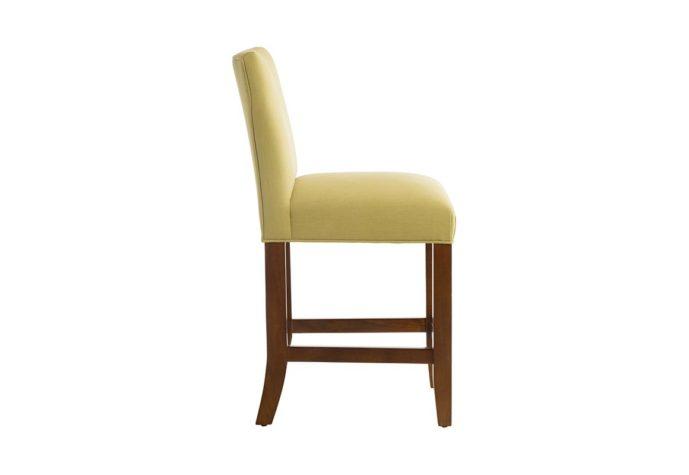 10206 counter stool in green fabric allows full customization