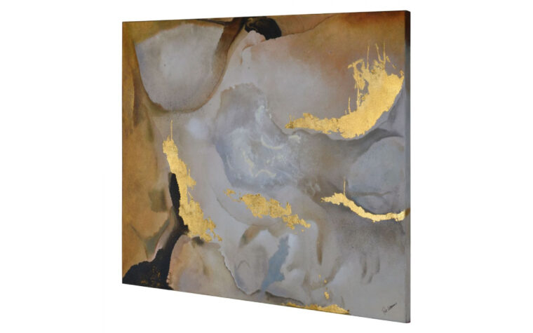 new americana side view of the modern painting featuring gold leaf