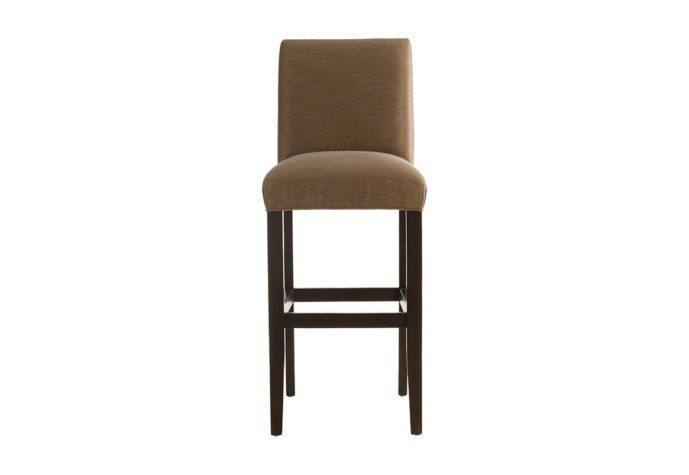 10105 bar stool in brown fabric with espresso wood finish from vogel