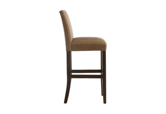 side view of 10105 bar stool with straight back from vogel