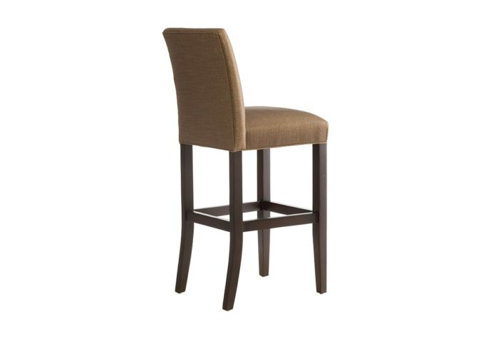 10105 bar stool in espresso wood finish and brown fabric