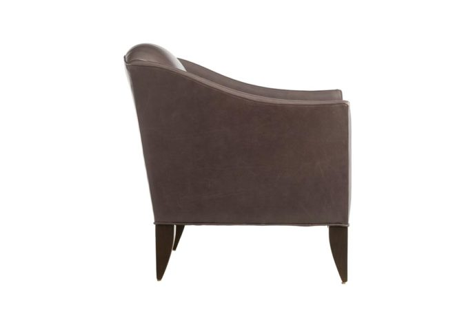 contemporary custom chair in brown leather