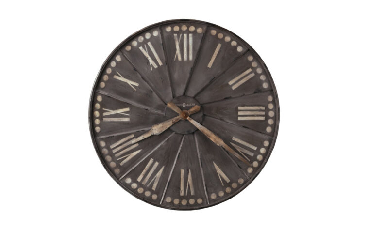 stockard wall clock is an industrial styled wall clock that is 35