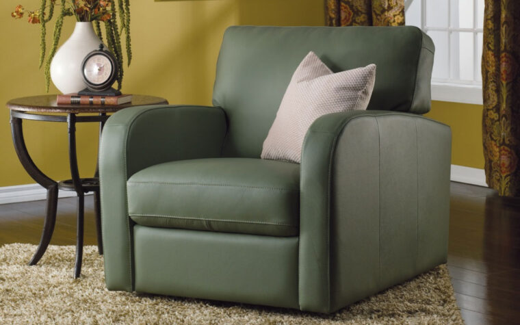 contemporary living room with westside chair from palliser is a contemporary chair in a green fabric