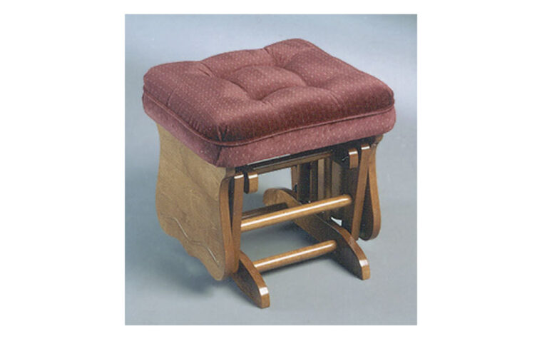 This traditional glider has 2 gorgeous wood finish options and over 700 fabric options