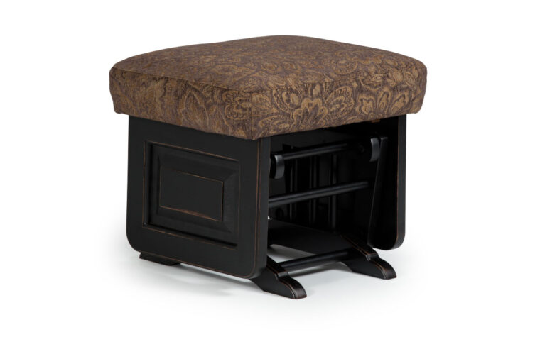This contemporary glider ottoman has clean sleek lines