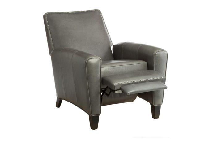 reclining chair open the 15430 classic deluxe recliner in charcoal leather