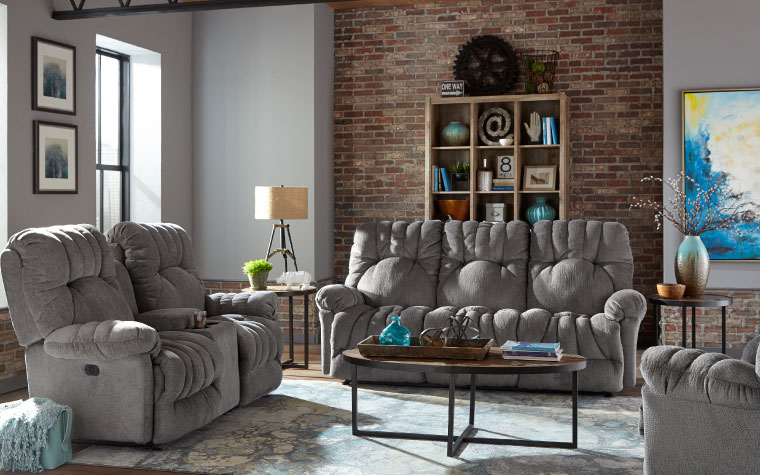 The conen is a classic sofa with button tufting