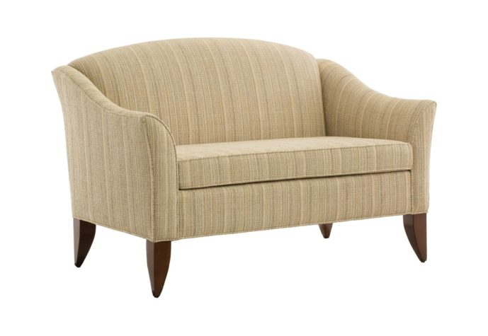 14202 brooke loveseat in a striped tan fabric available as a brooke sofa