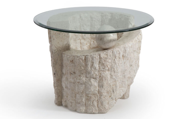 The Ponte Vedra End Table has a natural finish and a contemporary design