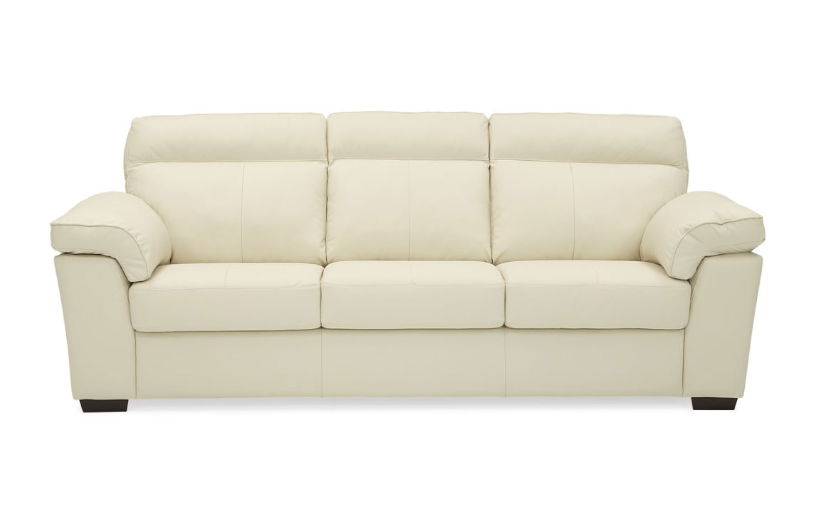 Kingston sofa is a modern sofa with clean lines and contemporary feel shown in a white