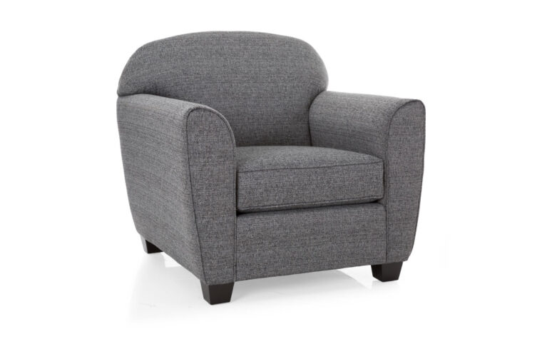 2317 chair is a transitional chair in charcoal fabric with dark wood legs