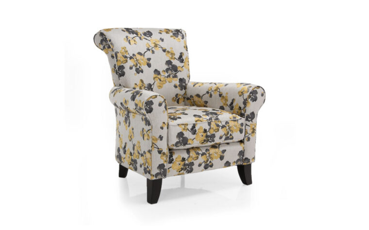 2470 chair is a beautiful contemporary floral chair in fun colors and available with customization