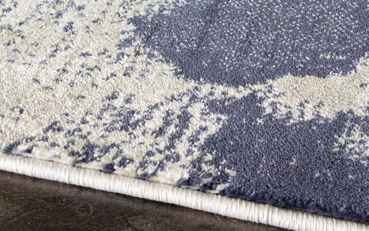 alaska area rug is a modern and contemporary area rug in navy, grey abstract pattern