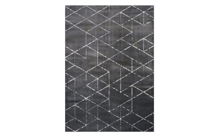 antika area rug is a classy moden area rug in a deep grey color with a fun abstract pattern and hints of white throughout