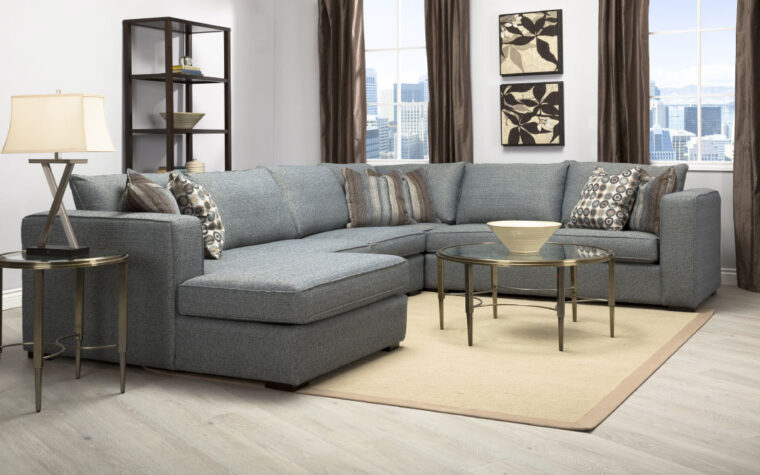 2900 sectional from Decor REst in a blue fabric