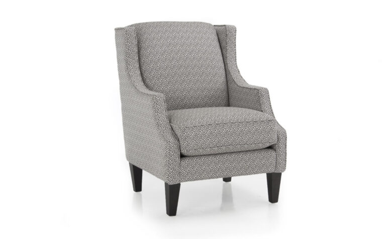 2920c chair is a traditional chair with curved arms, tapered legs, contrast welt, and shown in a grey fabric