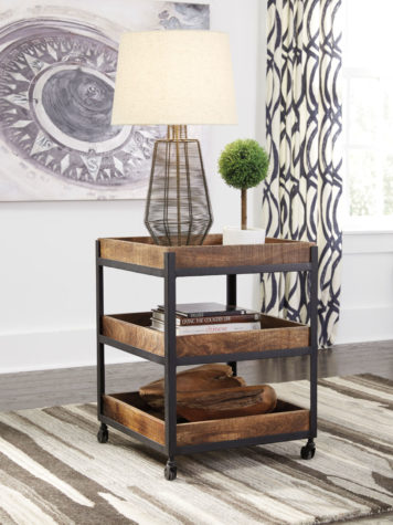 Fantastic Ways to Declutter - bar cart with trays