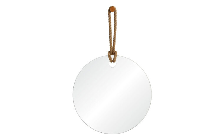 pelmet mirror features a hemp rope with a wood knob