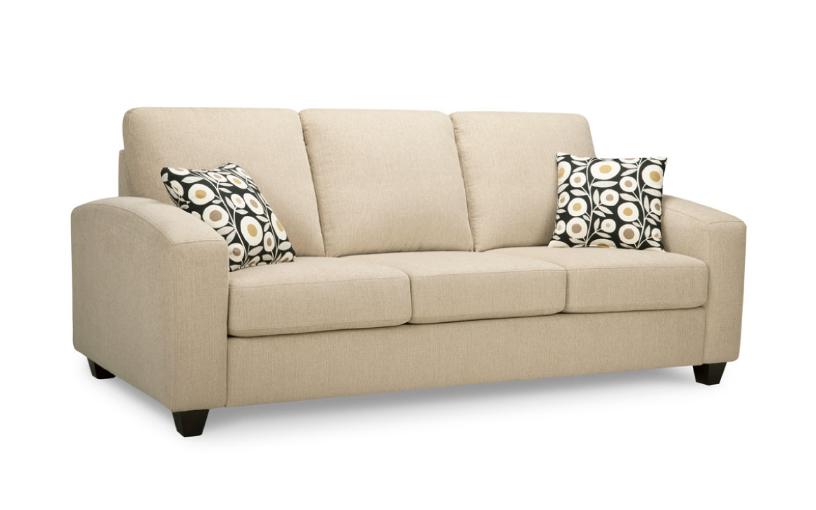 7003s sofa by trendline is a transitional sofa with cream fabric and espersso wood finish