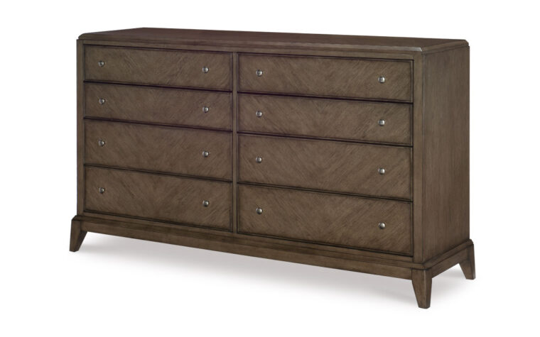 apex dresser has 8 drawers and is in a nice grey wood finish