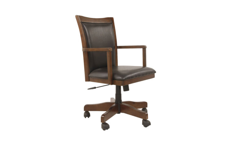 Ashley Hamlyn Office Chair with rich medium brown finish