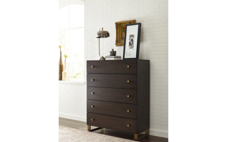 lifestyle image of austin modern chest from legacy furniture