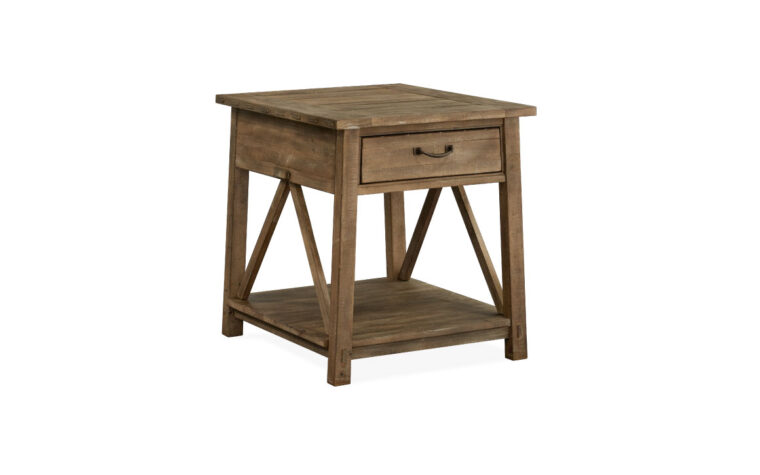 Bluff Heights Weathered Rectangular End Table