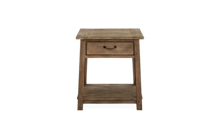 Bluff Heights Weathered Rectangular End Table front