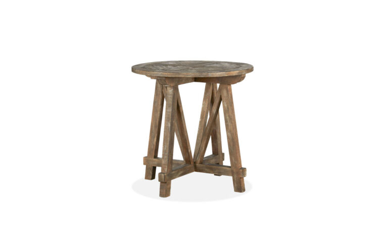 Bluff Heights Round Accent Table with triangular support