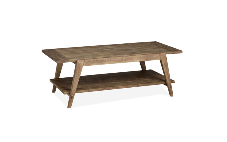 Bluff Heights Shelf Cocktail Table featuring sawn wood
