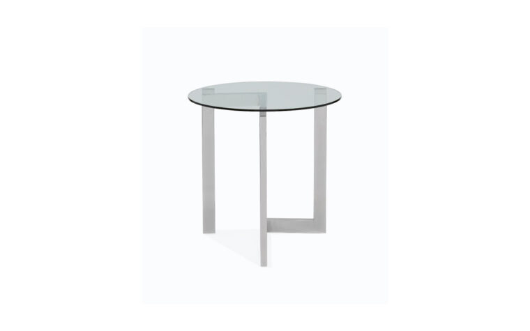 Aries Polished Chrome Round End Table
