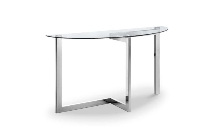 Aries Asymmetric Demilune Sofa Table