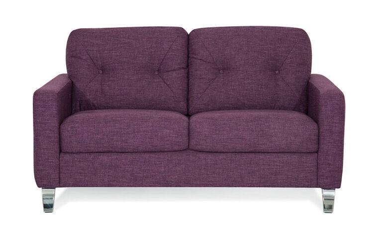 77781-02 dot loveseat in purple fabric