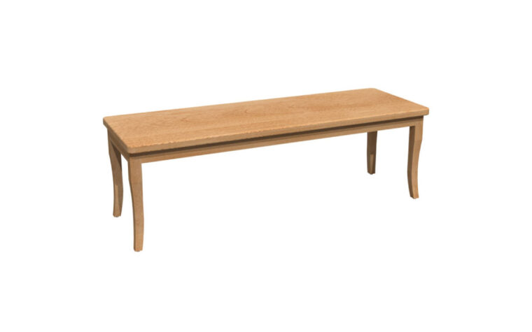 Bertanie Dining Bench - wooden seat