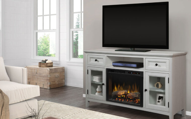 Sophia Media Console Electric Fireplace room shot