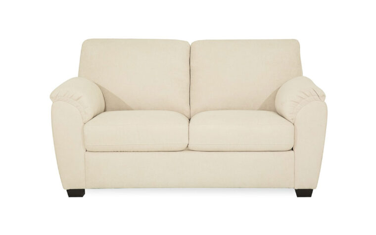 lanza loveseat in white leather