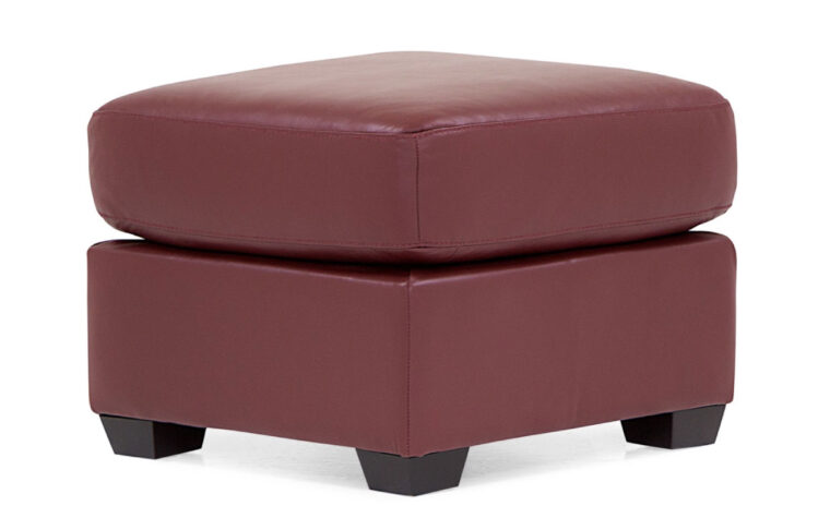 lanza ottoman in red leather