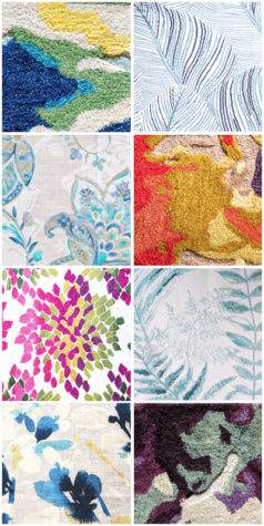 Collage of Floral Fabrics