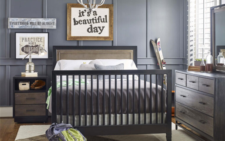Convertible Crib full-size bedroom