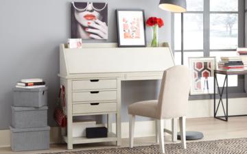 White Secretary Desk - Legacy Classic