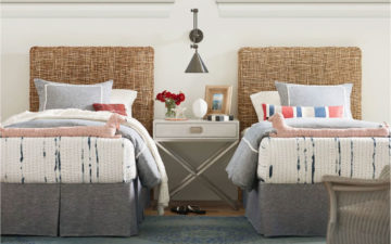 Nesting Headboard - twin room shot