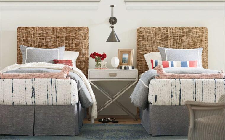 Nesting Headboard - twin room shot